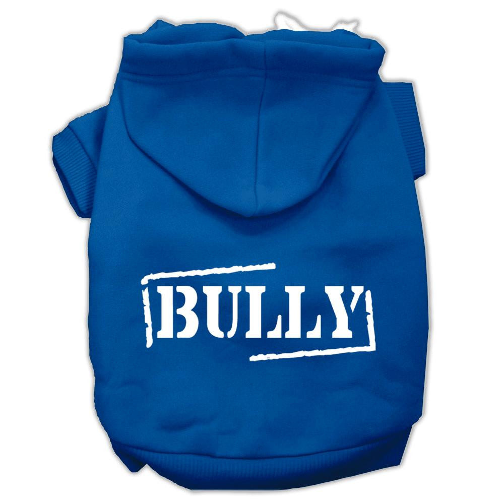 Bully Screen Printed Pet Hoodies Blue Size XXL (18)