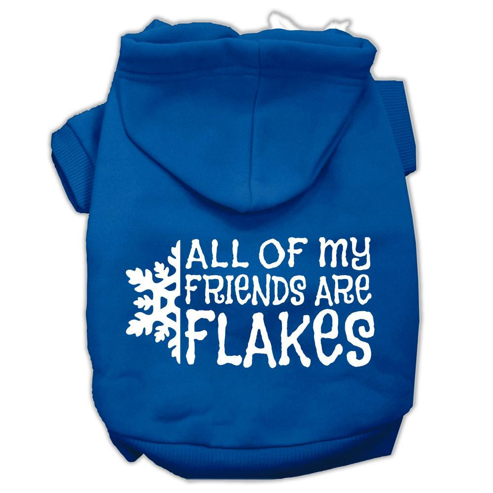 All my Friends are Flakes Screen Print Pet Hoodies Blue Size XXL (18)