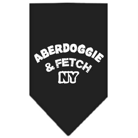 Aberdoggie NY Screen Print Bandana Black Large
