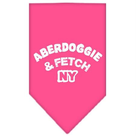 Aberdoggie NY Screen Print Bandana Bright Pink Small