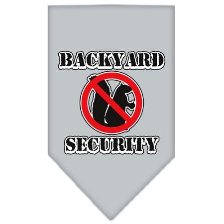 Backyard Security Screen Print Bandana Grey Large