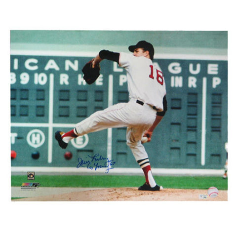 Autographed Jim Lonborg 16-By-20-Inch Unframed Horizontal Photograph Inscribed Cy Young 67 (MLB Authenticated)