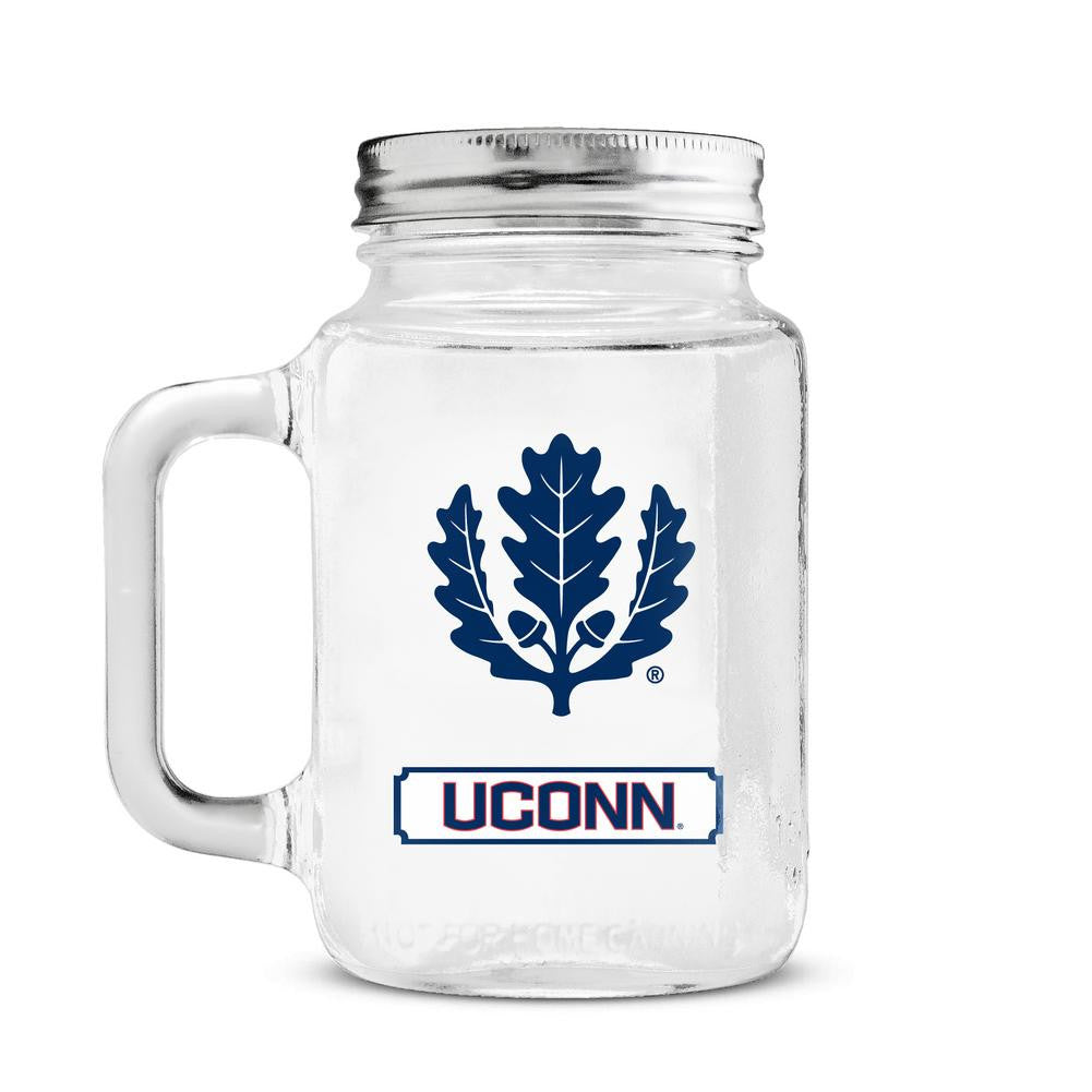 20 oz Mason Jar - University of Connecticut