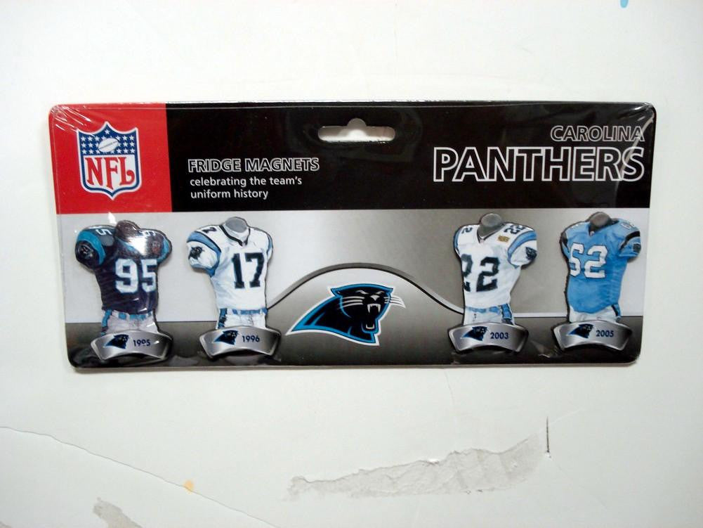 4 Pack Uniform Magnet Set - NFL - Carolina Panthers