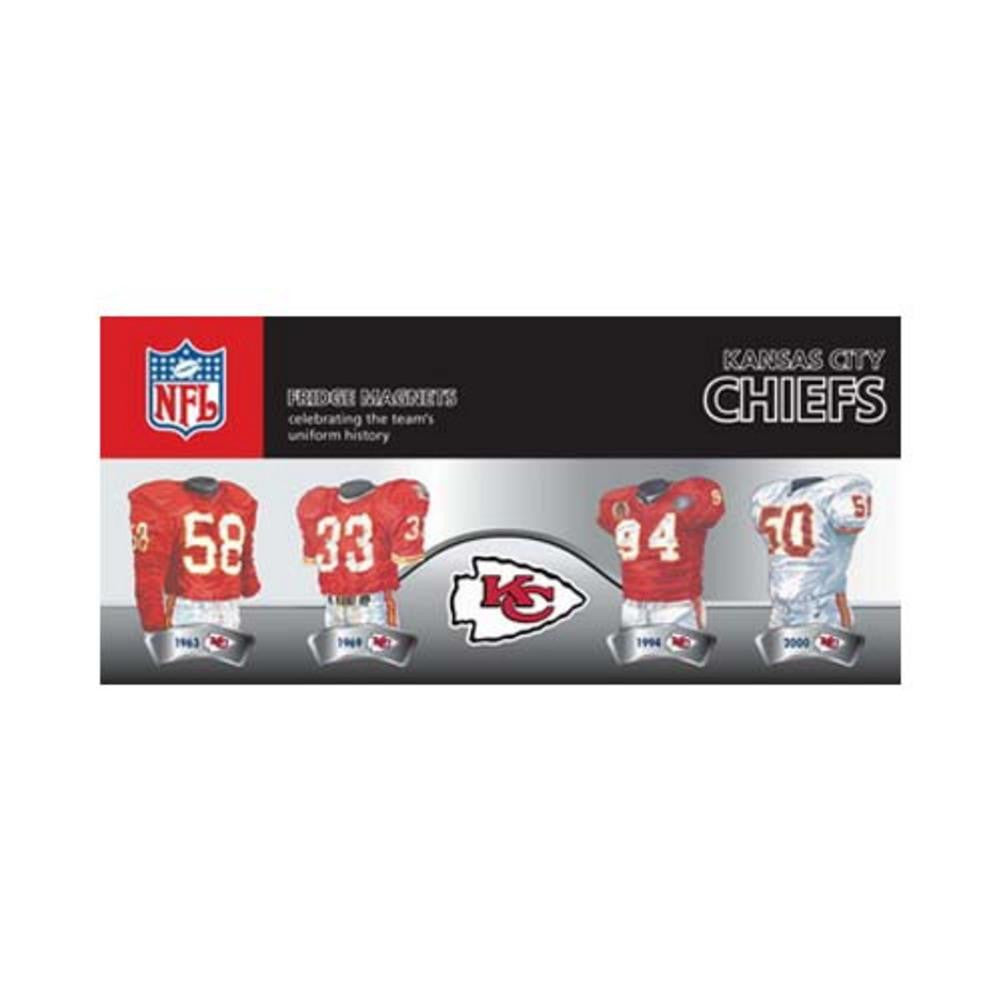 4 Pack Uniform Magnet Set - NFL - Kansas City Chiefs