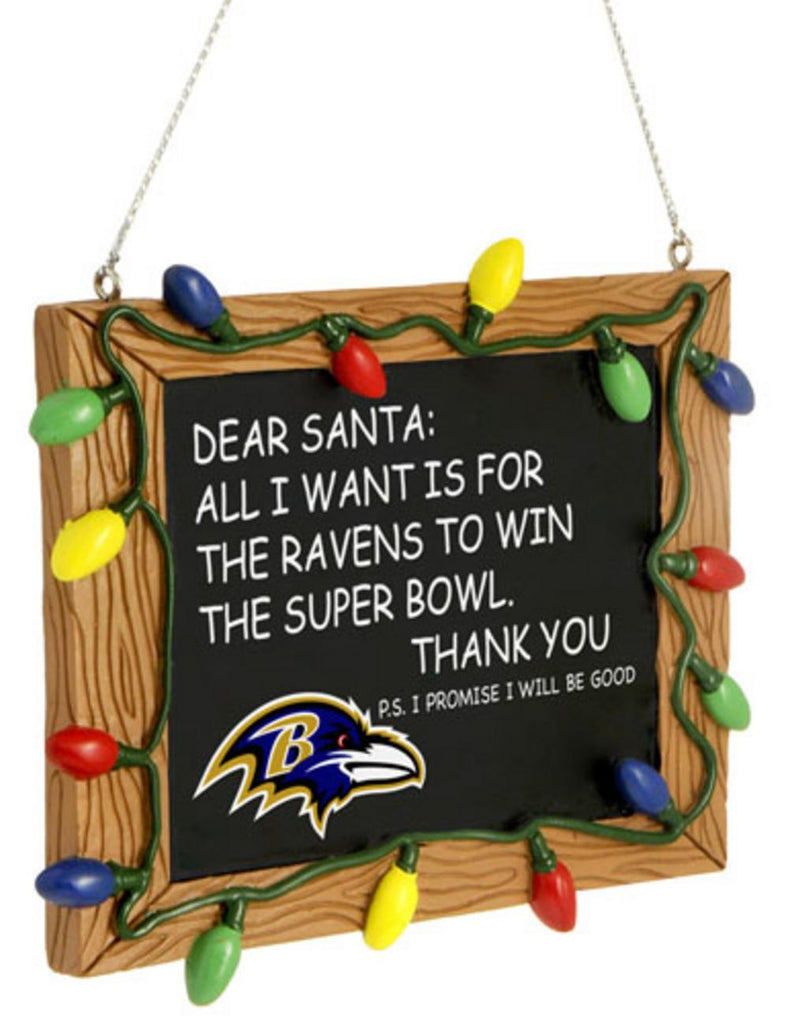 Baltimore Ravens Holiday Chalkboard Sign