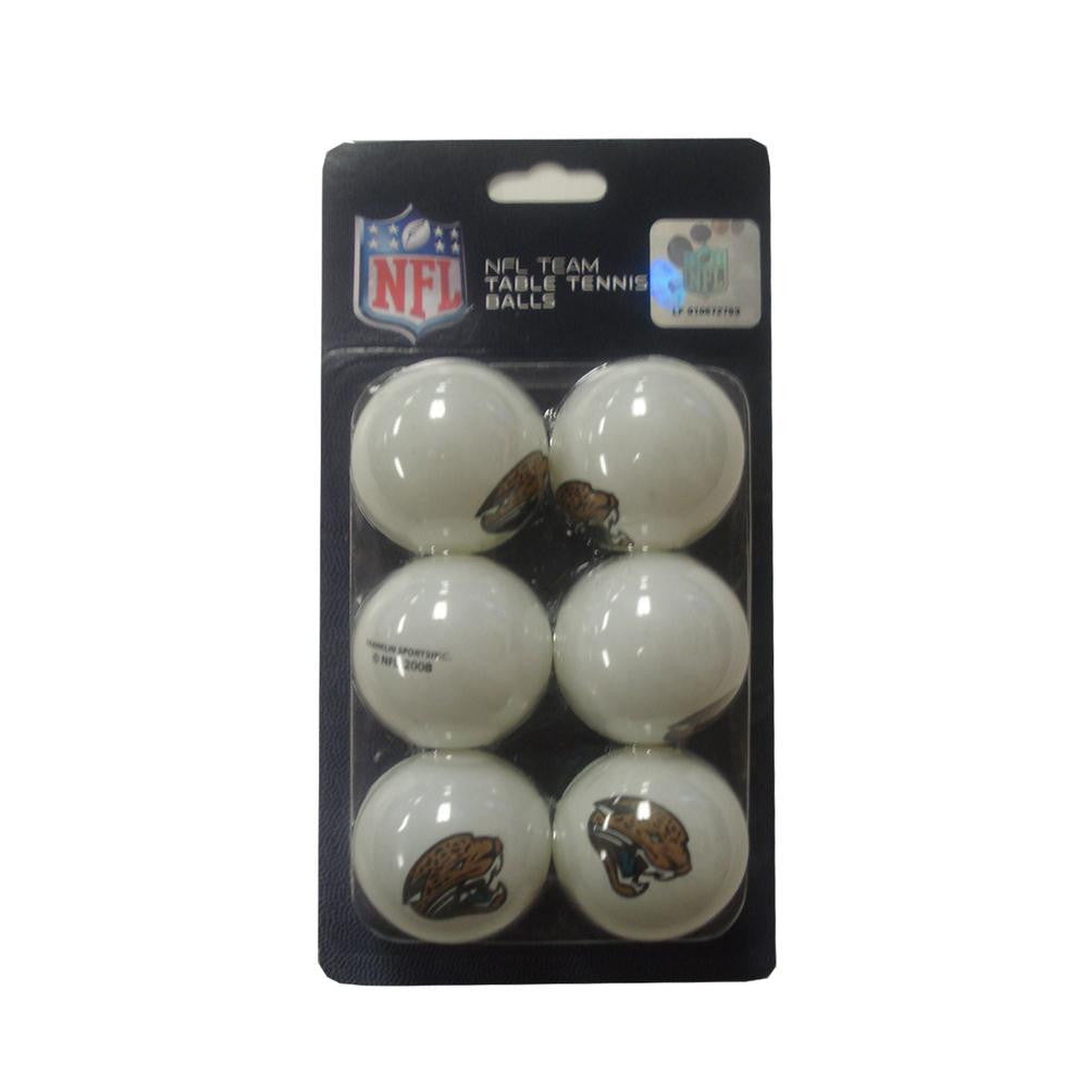 Franklin NFL Table Tennis Balls 6 Pack - Jacksonville Jaguars
