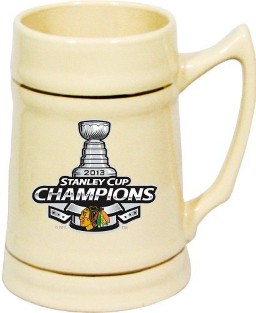 Chicago Blackhawks NHL Hockey 2013 Stanley Cup Champions Natural Stein Mug