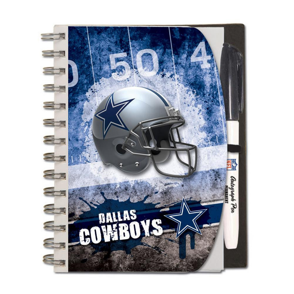 Dallas Cowboys Deluxe Hardcover  5 x 7 Inches Autograph Book and Pen Set  Team Colors