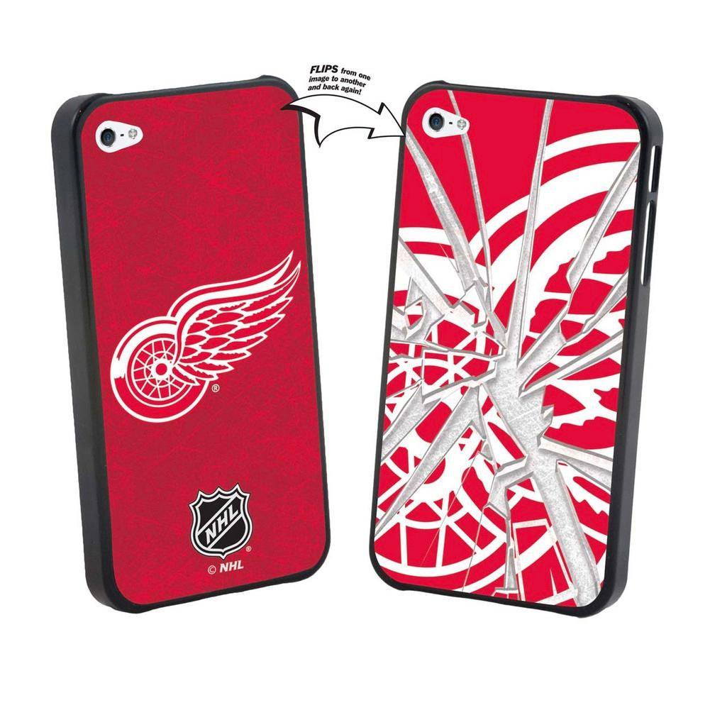 NHL Detroit Red Wings iPhone 5 Broken Glass Lenticular Case