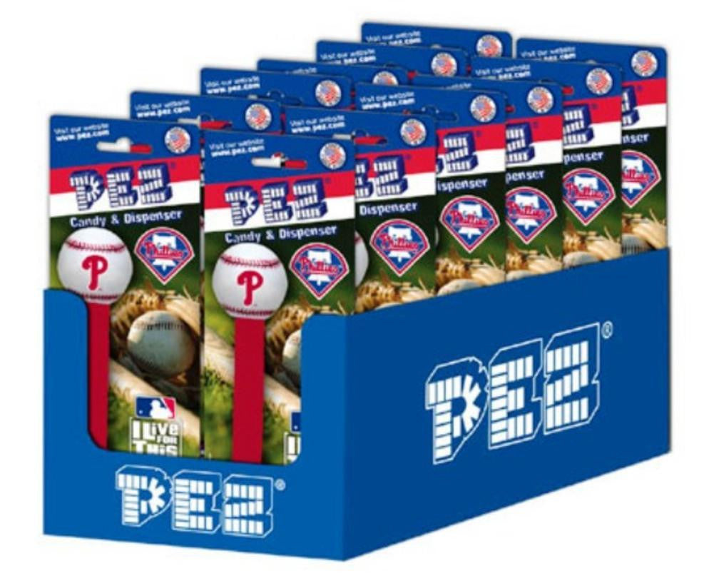 12-Packs Of Mlb Pez Candy Dispenser - Phillies - 1