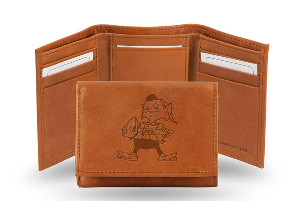 Rico Embossed Trifold Wallet - NFL Cleveland Browns