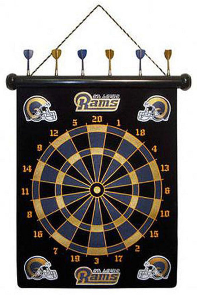 NFL St Louis Rams Magnetic Dart Board Set