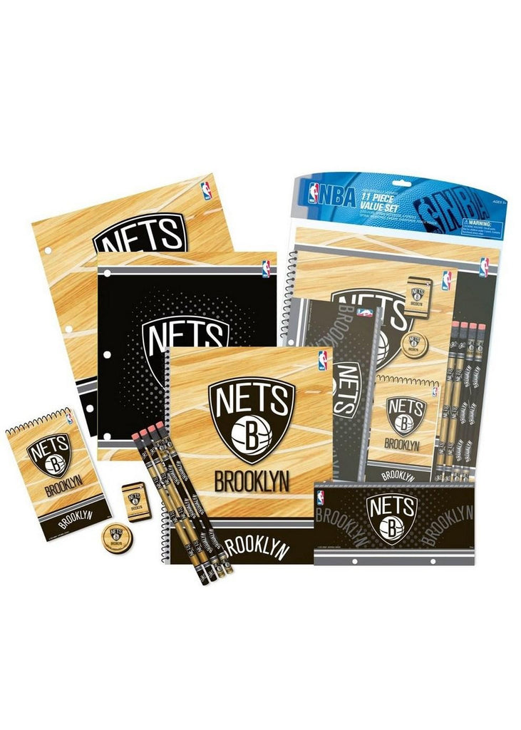 11PC Stationery Set - Brooklyn Nets
