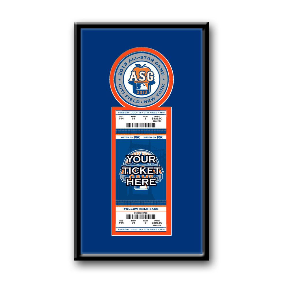 2103 MLB All-Star Game Single Ticket Frame - Mets