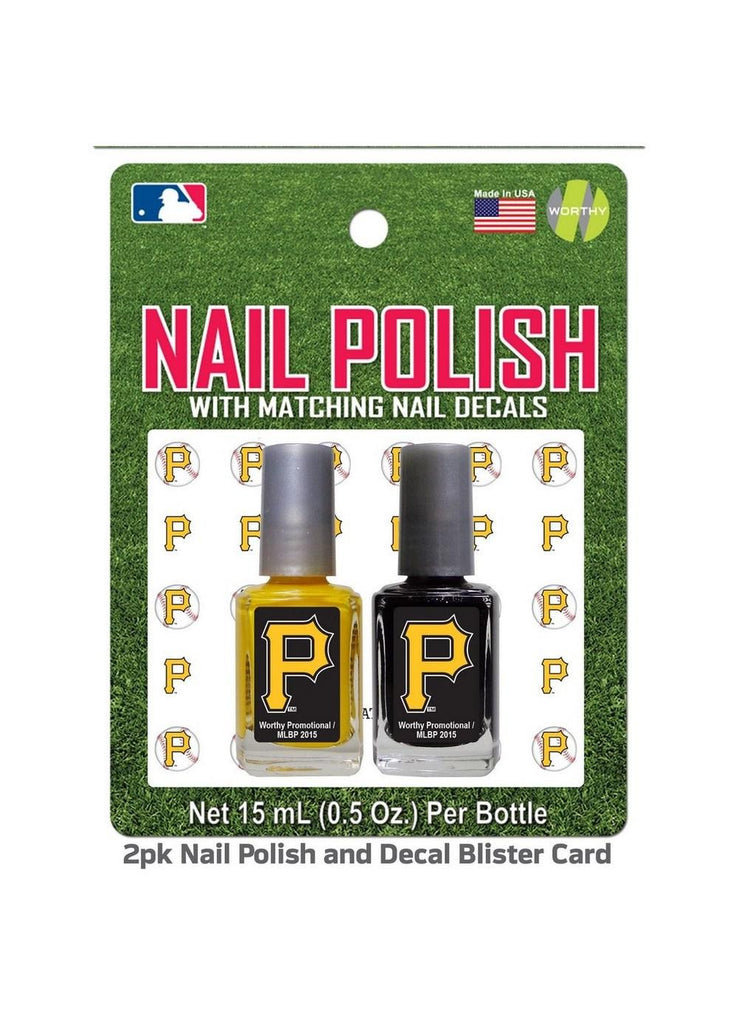2 Pack Nail Polish MLB Pittsburgh Pirates
