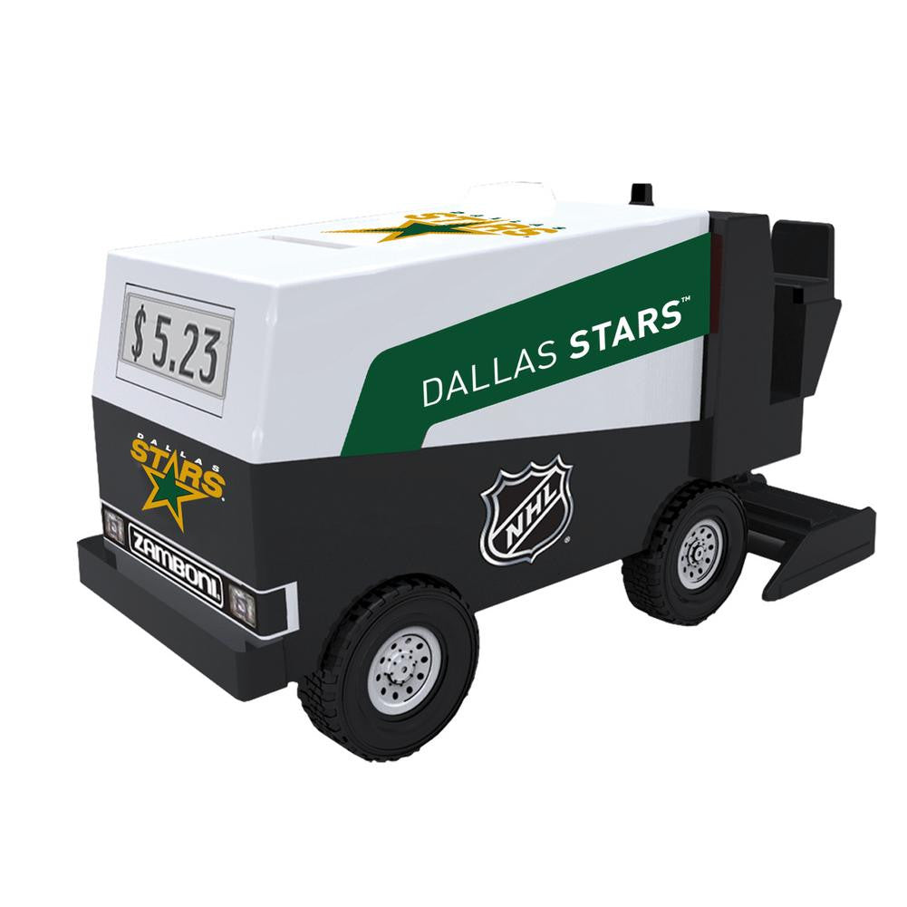 NHL Hockey - Dallas Stars - Zamboni Digital Electronic Coin Counting Bank