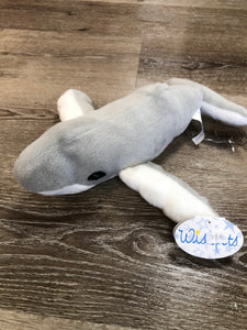 Plush Humpback Whale Grey 12""