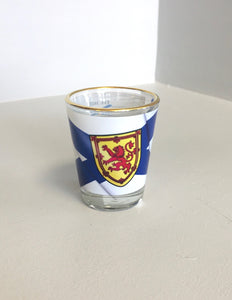 Shot Glass Waving NS Flag & Story