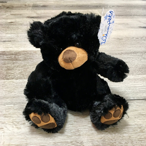 Plush Bear Sitting Pawee Black 8""