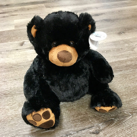 Plush Bear Sitting Pawee Black 11""