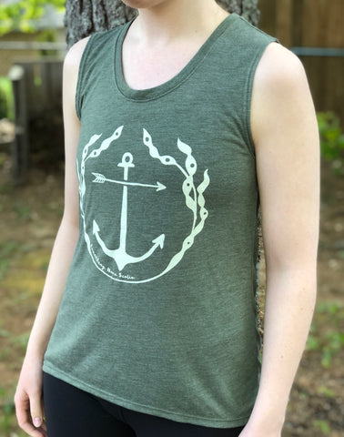 Sleeveless Seaweed Anchor T-Shirt