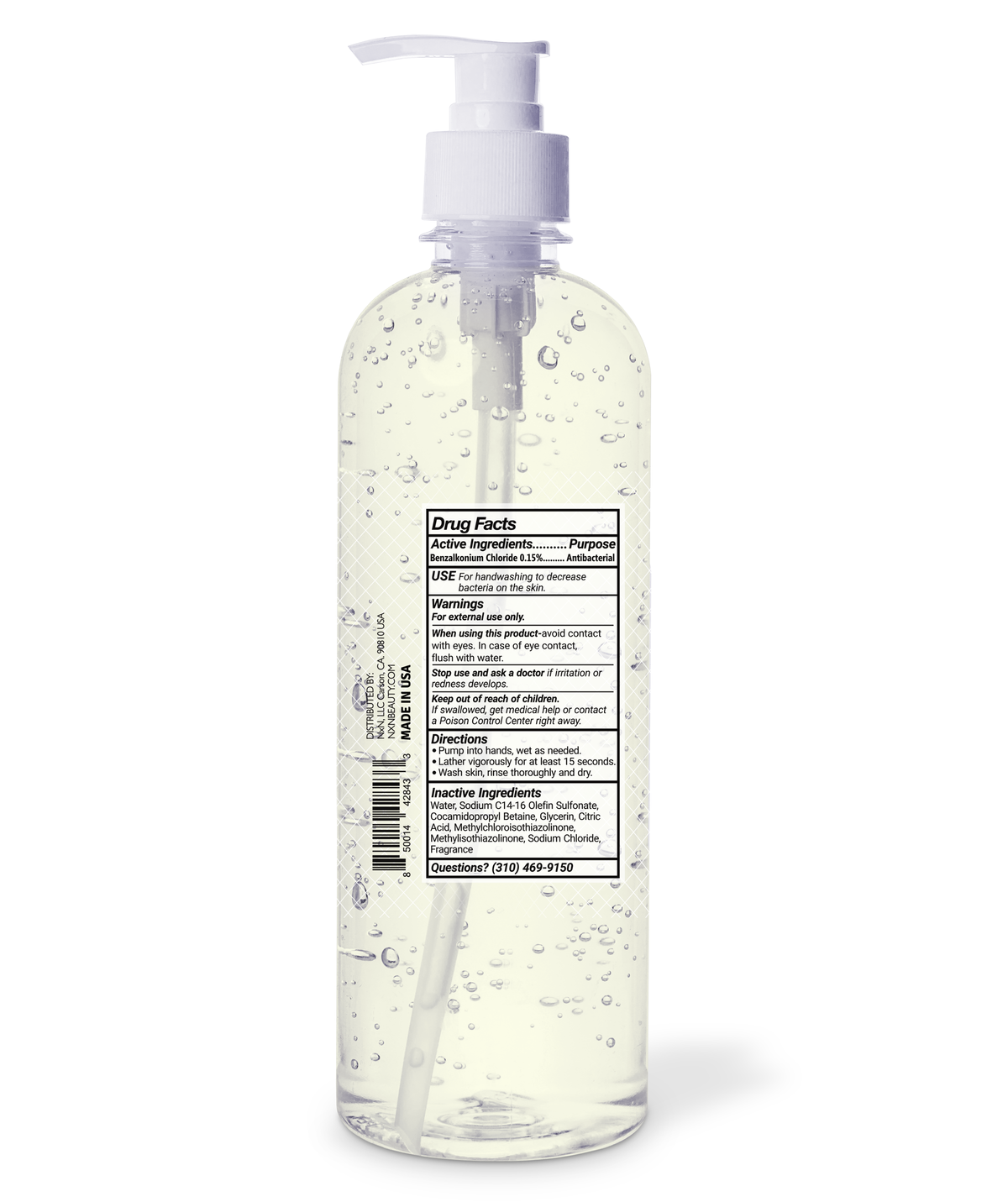 NXN Antibacterial Hand Soap, Mountain Rain, 33.8oz.