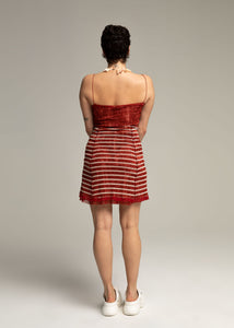 GAULTIER mesh striped dress