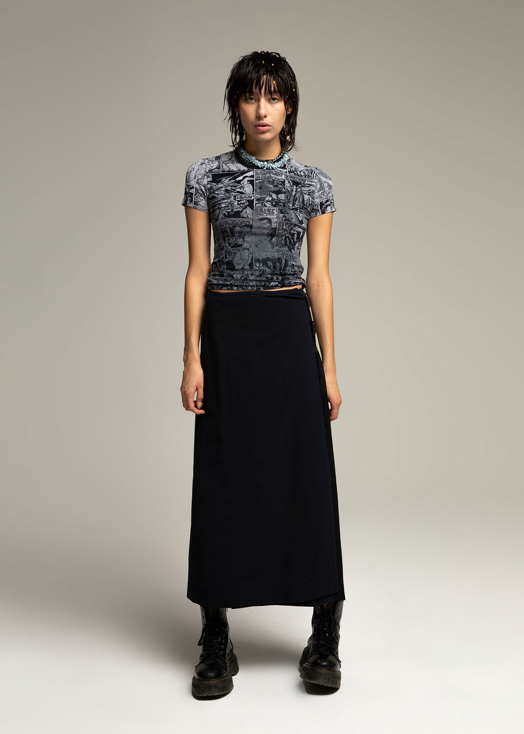 PRADA straps long skirt