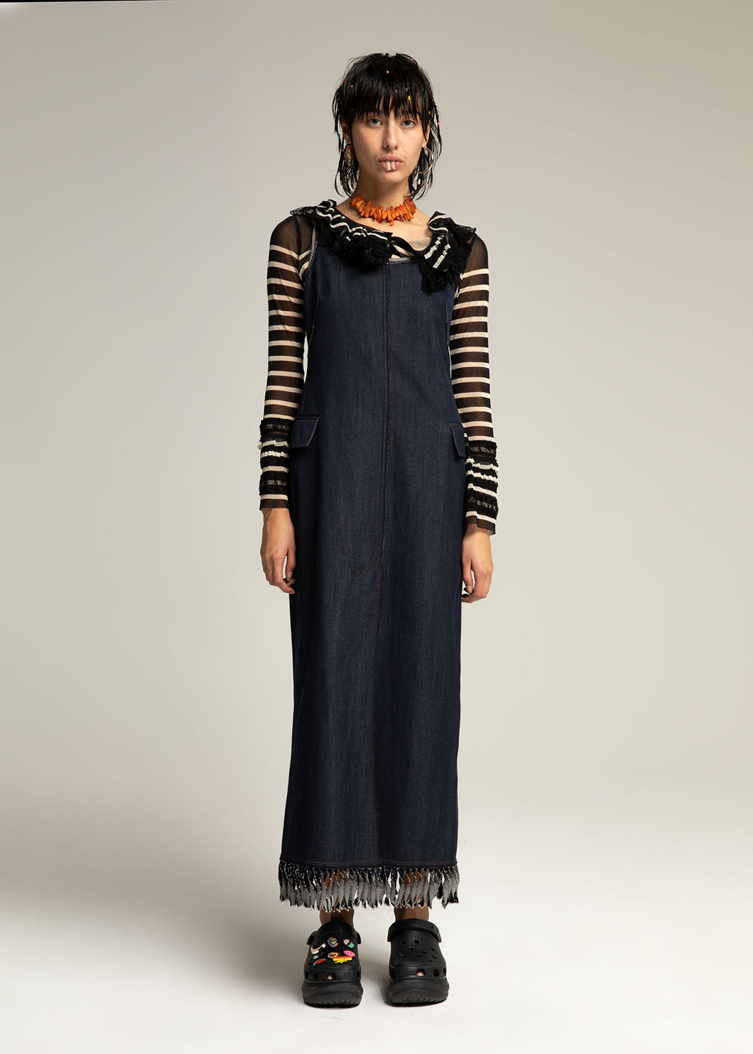 GAULTIER long denim dress