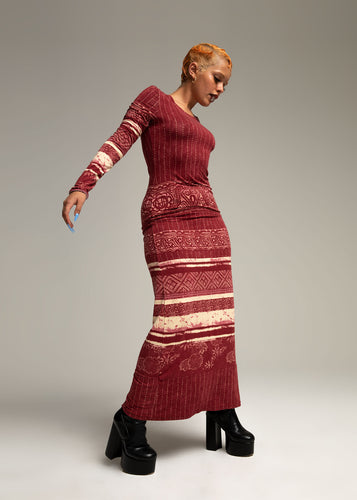 GAULTIER long printed dress