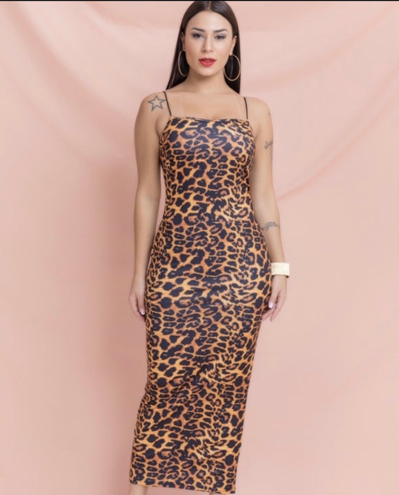 Bodycon Leopard Dress