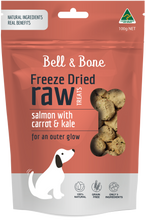 Load image into Gallery viewer, Freeze Dried Dog Treats - Salmon with Carrot and Kale 100g