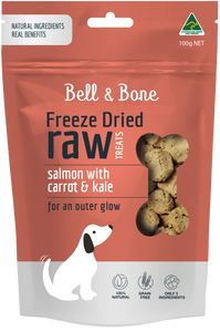 Freeze Dried Dog Treats - Salmon with Carrot and Kale 100g