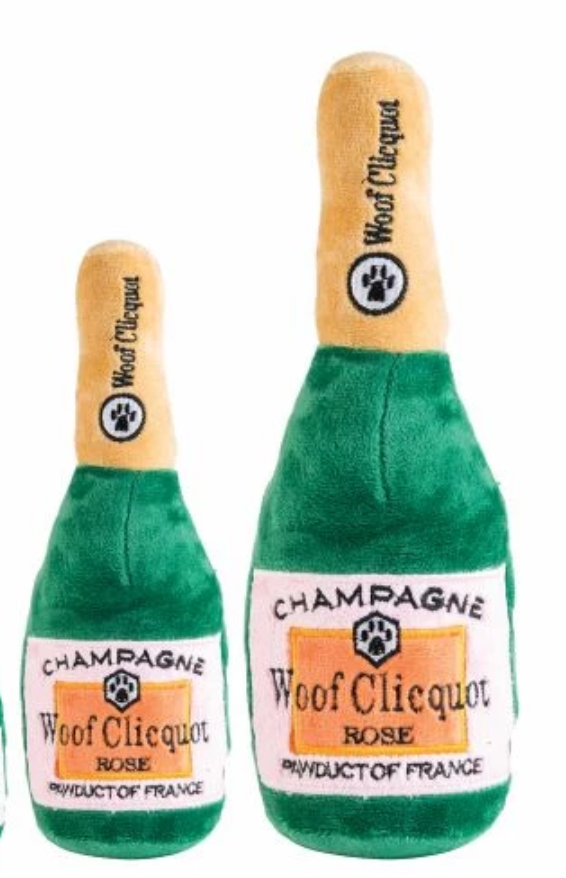 Woof Clicquot Rosé Champagne Bottle Dog Toy