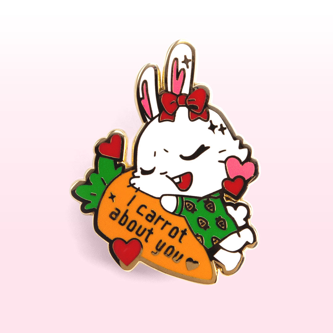 I Carrot About You Bunny Enamel Pin
