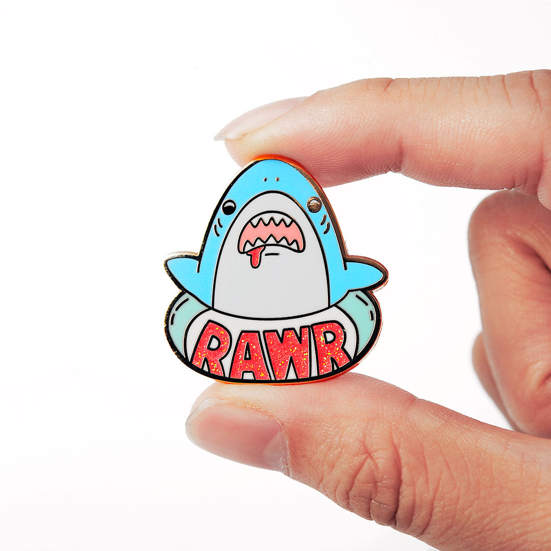 RAWR Shark Enamel Pin