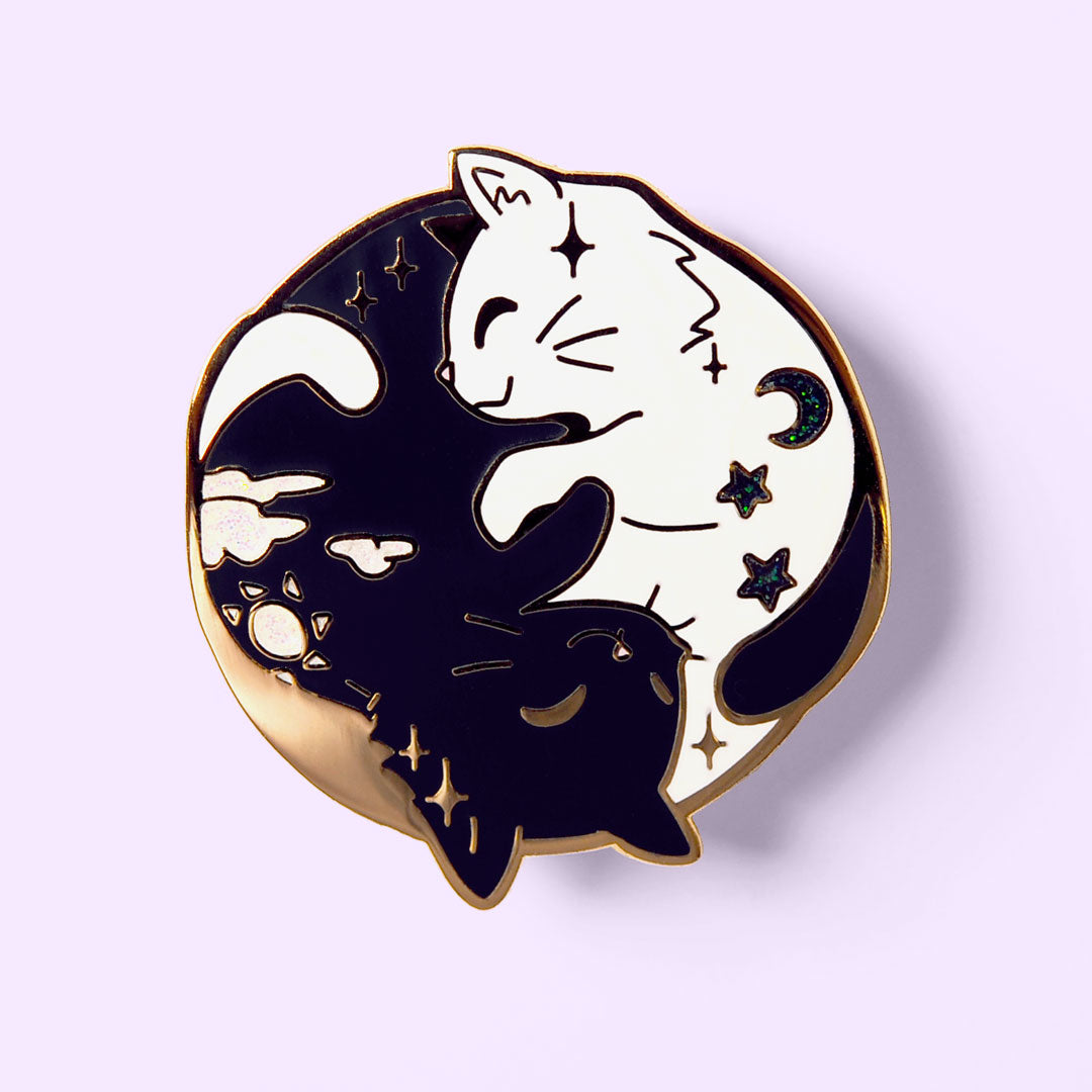 Day & Night Cats Enamel Pin