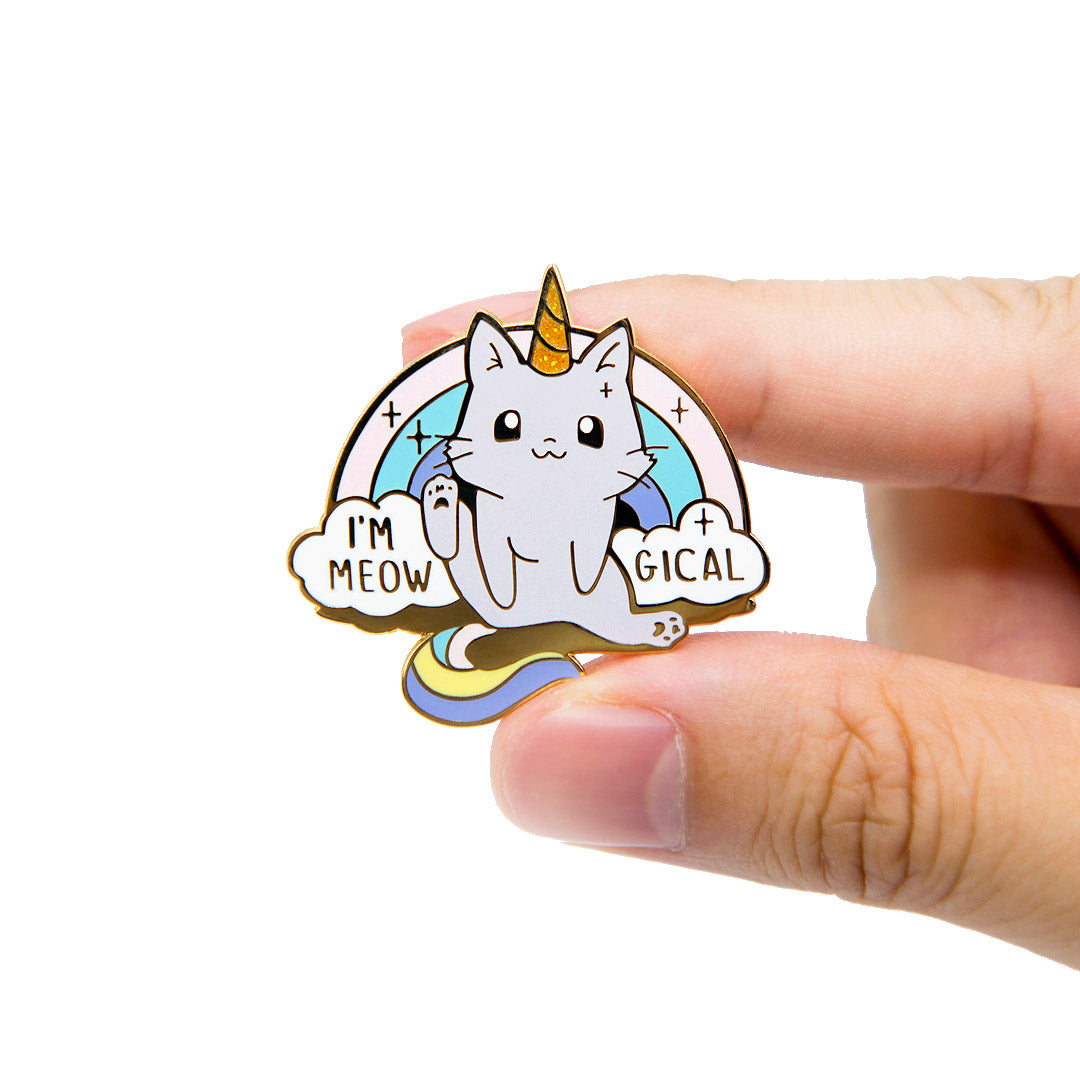 Meowgical Caticorn Unicorn Cat Enamel Pin