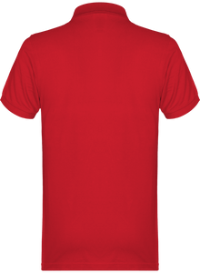 POLO HOMME - ALMINDOR - ROUGE/LOGO