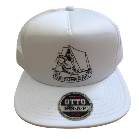 [Price Reduced] Mesh Snapback Trucker Skate Colorado for the Devil Tent White