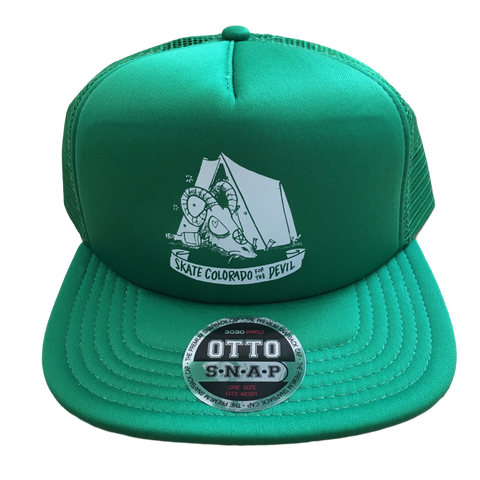 [Price Reduced] Mesh Snapback Trucker Skate Colorado for the Devil Tent Green