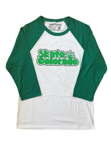Raglan with Sleep/Leaf logo Skate Colorado