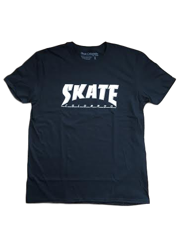 T-Shirt Men's Thrasher font Skate Colorado Black