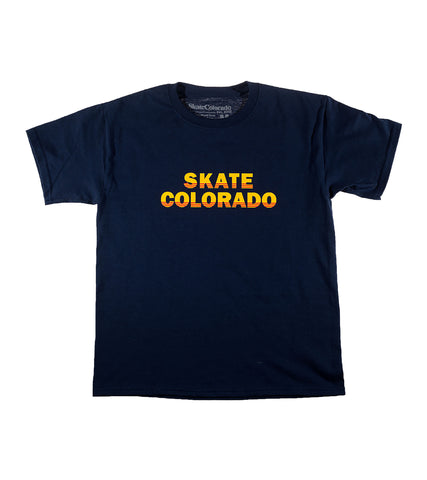 Colorado Skateboard T-Shirt Youth Retro SkateColorado
