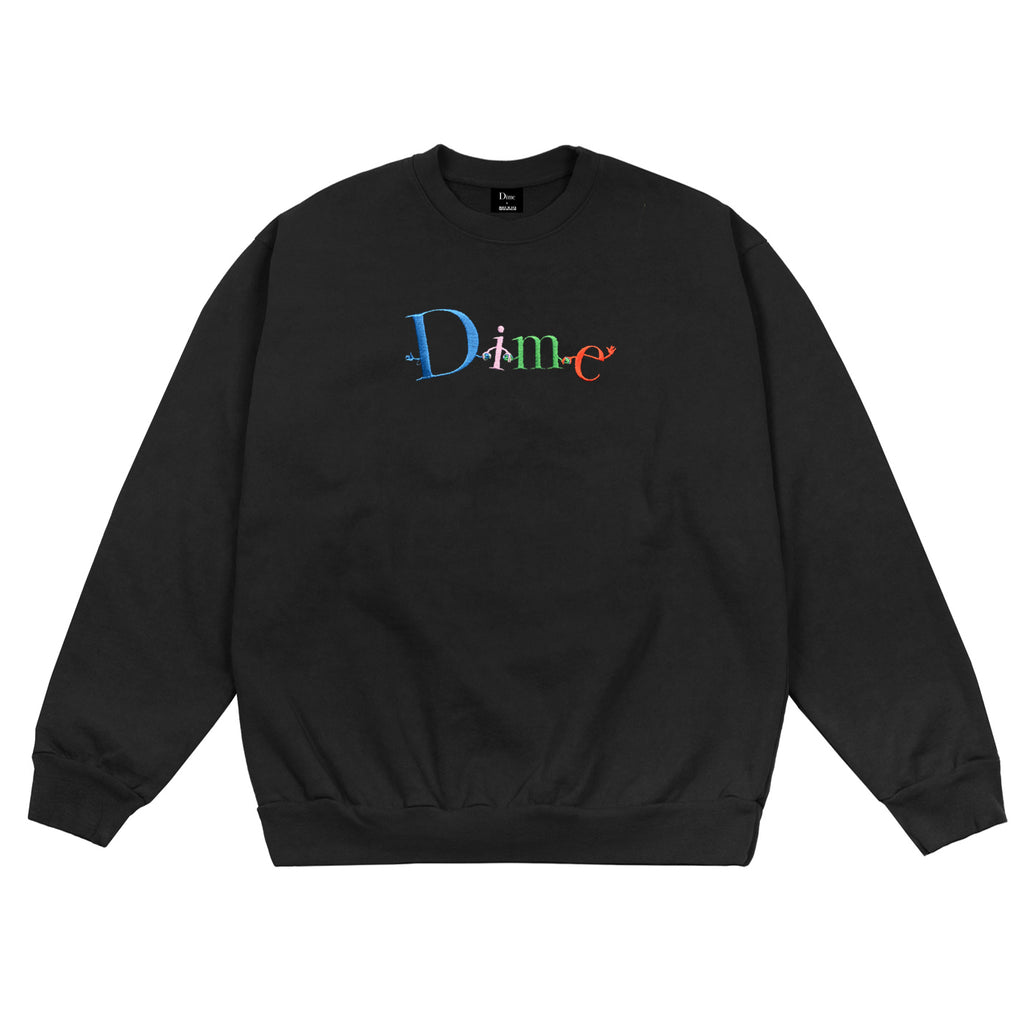 DIME BLACK FRIENDS CREWNECK