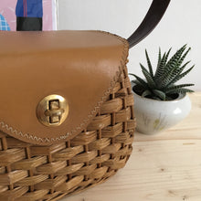 Load image into Gallery viewer, 1950s - Deadstock! - Adorable Wicker Small Handbag