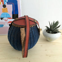 Load image into Gallery viewer, 1950s - Deadstock! - Ultrarare Navy Blue Small Handbag