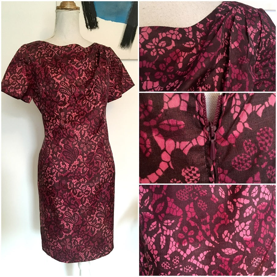 1950s 1960s - Gorgeous Silk Cocktail Dress - W34 (86cm)