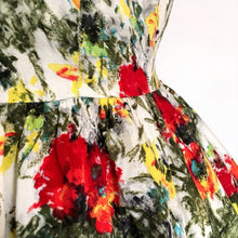 Load image into Gallery viewer, 1950s - Stunning Abstract Floral Cotton Day Dress - W26 (66cm)